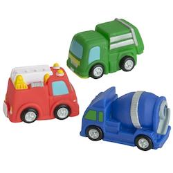 Badleksaker Fordon 3-pack