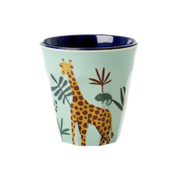 RICE - Mugg Jungle Animal Blå Small