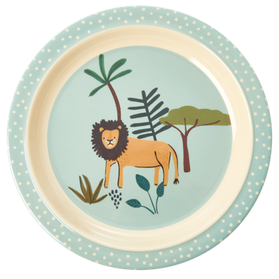 RICE - Lunchtallrik Jungle animal Lejon