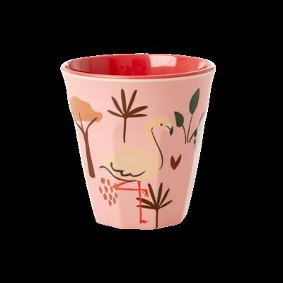 RICE - Mugg Jungle Animal rosa Small