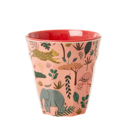 RICE - Mugg Jungle Animal Rosa Small