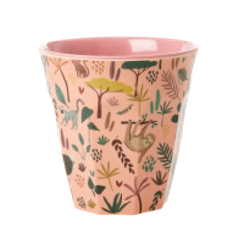 RICE - Mugg Djur Rosa Medium