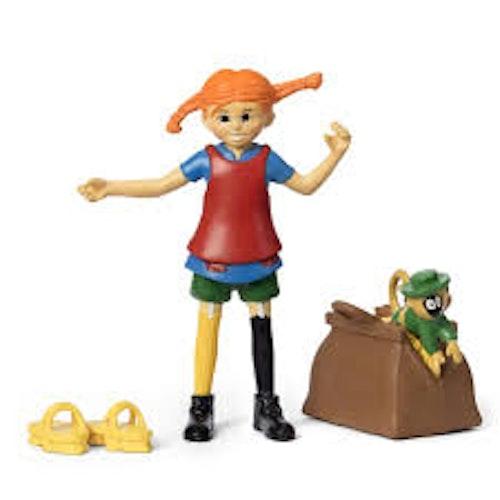 Pippi Långstrump figurset med Herr Nilsson