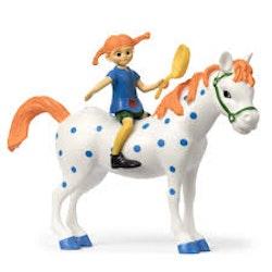 Pippi Långstrump figurset med Lilla Gubben