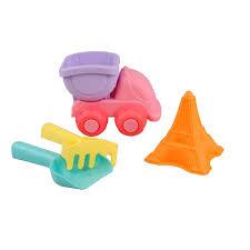 Sandset matt rosa 4 delar - Lastbil