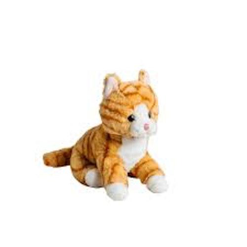Randig orange katt 20 cm