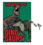 Dagbok med lås - Dinosaurier