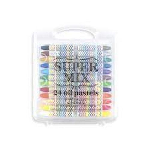 Supermix oil pastels