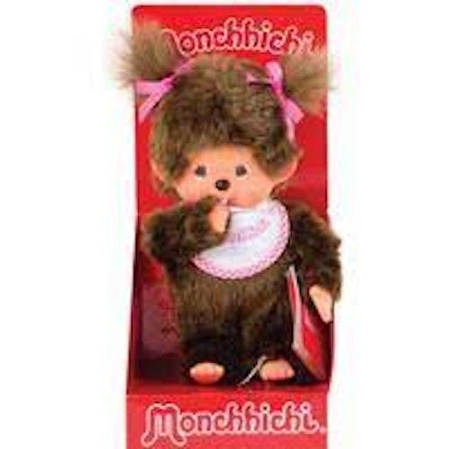 Monchhichi - Flicka med vit haklapp