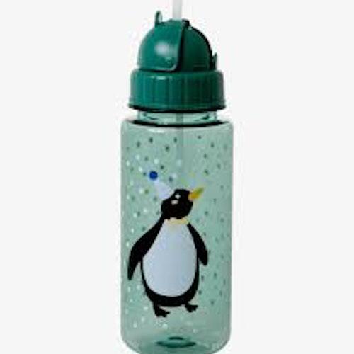Vattenflaska med sugrör - Pingvin