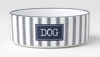 Country Blue Dog bowl white/navy