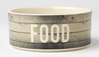 "Farm Dog FOOD Bowl 6"" Gray"
