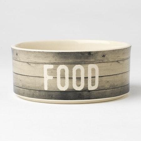 "Farm Dog FOOD Bowl 6"" Gray"