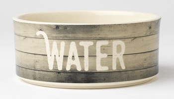 "Farm Dog WATER Bowl 6"" Gray"