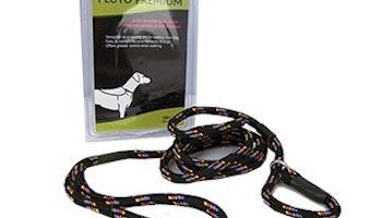 Pluto Premium Slip Lead Black 180 cm