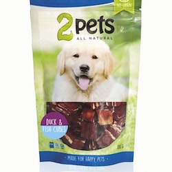 2pets Dogsnack Duck/Fish Cubes, 100 g