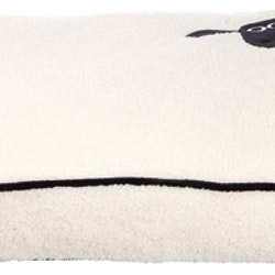 Fåret Shaun, dyna, 80 × 55 cm, creme