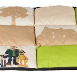 Fåret Shaun, Shaun filt, 85 × 60 cm, beige/lime
