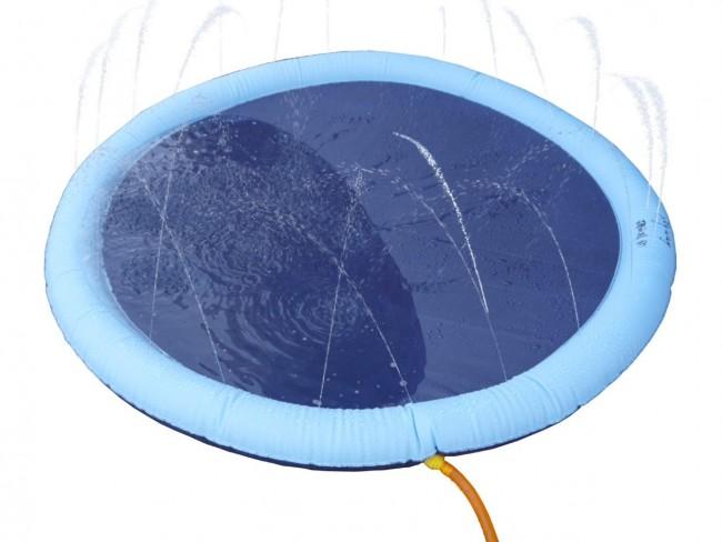 Pet pad splash sprinkler