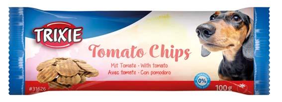TuggChips med tomat, ø 4 cm, 100 g