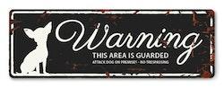 Warning skylt mini svart chihuahua