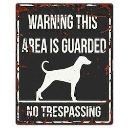 Warning skylt svart dalmatiner