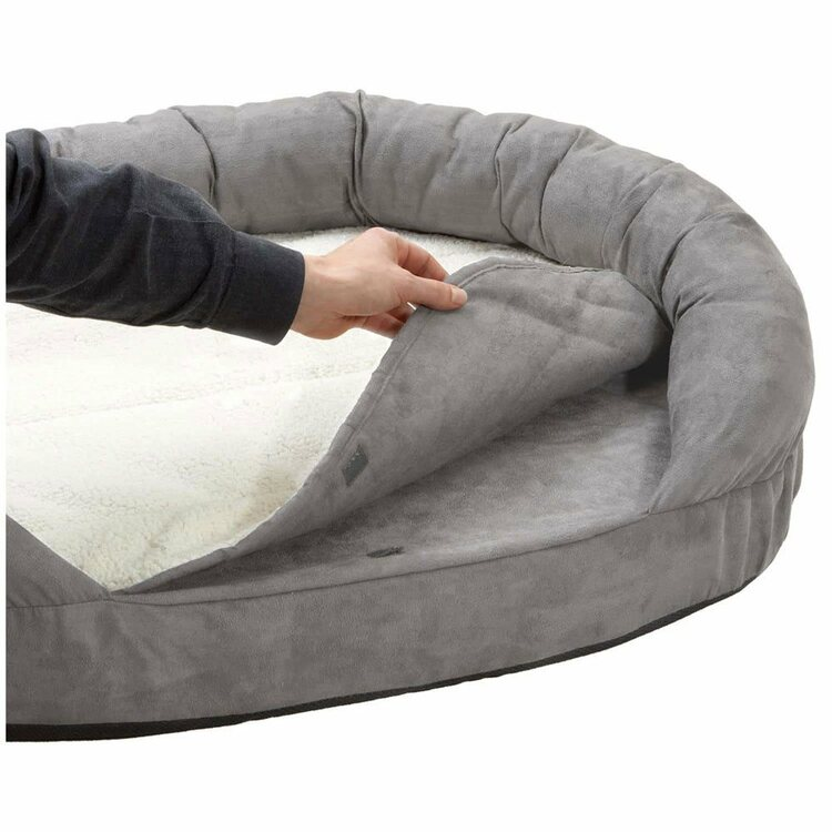 Bädd ortho 100x65x24 oval grå