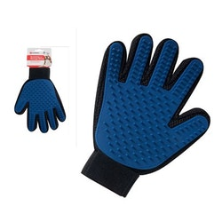 Trim handske m gummipiggar massage/päls