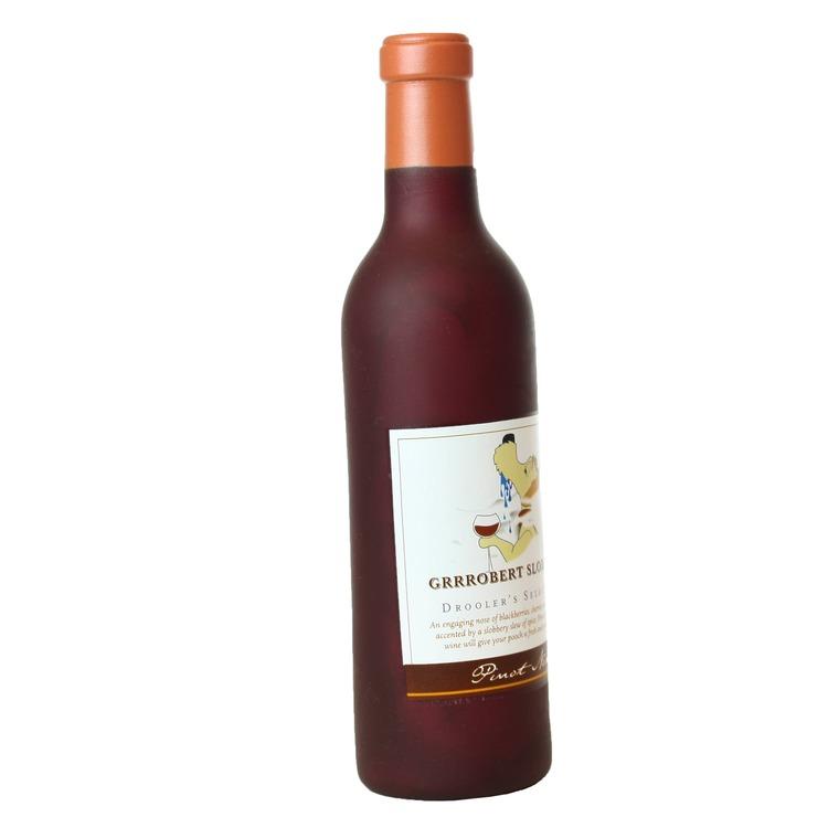 Silly Squeaker Wine Bottle Grrrobert Slobbery