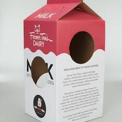 Mega Milk Carton - Cardboard Box Playhouse For Cats