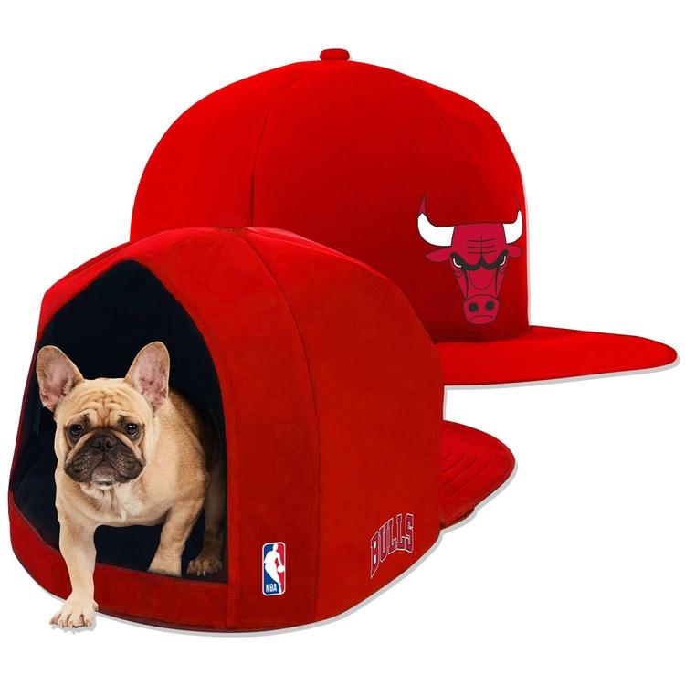 Chicago Bulls Nap Cap Plush Dog Bed