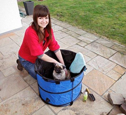 Quick wash till liten hund hopfällbart 60x60cm