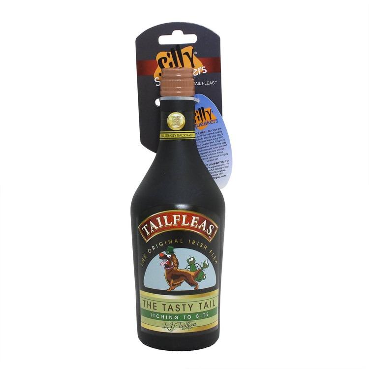 Silly Squeaker Liquor Bottle TailFleas
