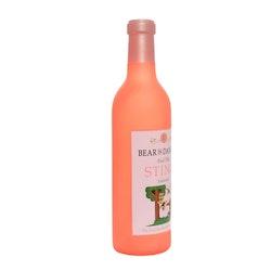 Silly Squeaker Wine Bottle Bear In Danger
