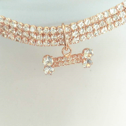 Diamond Bone Pet Collar