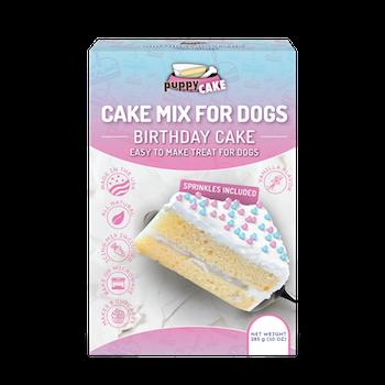 Puppy Cake Mix For Dogs - födelsedagstårta med stössel