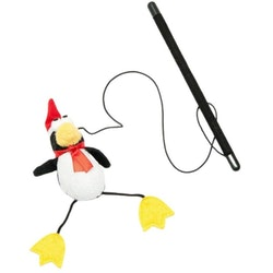 Midlee 2-Pack Santa Mouse & Penguin Wand Christmas Cat Toy