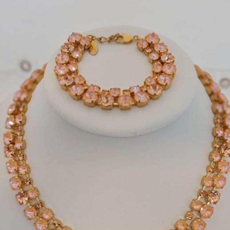 Pomona Necklace - Peach Delite + Light Peach