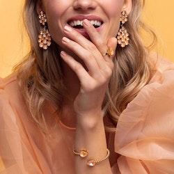 Celena Earrings / Light Peach + Peach Delite