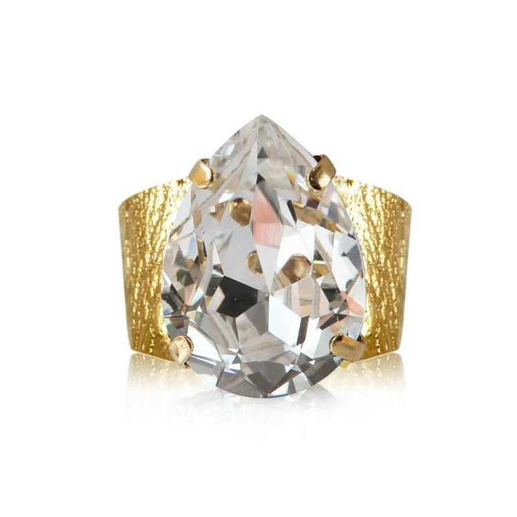 Classic Drop Ring / Crystal