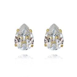 Mini Drop Stud Earrings / Crystal
