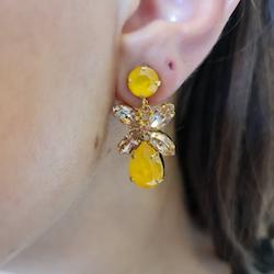 Mini Dione Earrings Yellow / Golden