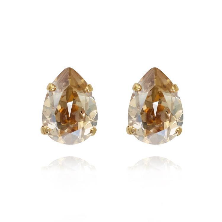 Mini Drop Stud Earrings / Golden Shadow