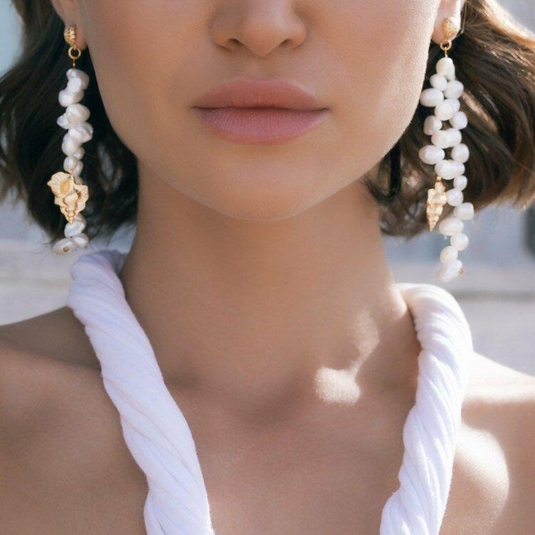 Luisa Earrings / Pearl