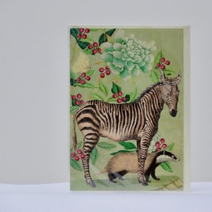Kort Zebra och grävling