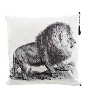 Kuddfodral Lejon i mjuk polyestersammet