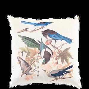 Kuddfodral Fågelfröjd i mjuk polyestersammet