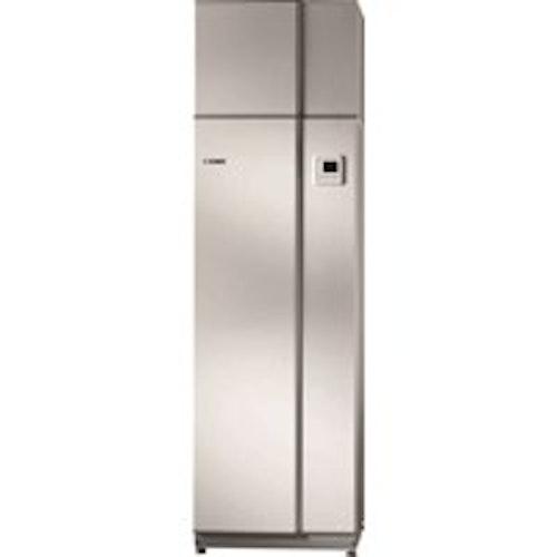Frånluftvärmepump F110 Nibe NIBE F110 har en inbyggd fläkt som ventilerar och återvinner energin ur frånluften, uteluften eller omgivande luft och bereder tappvarmvatten. Varmvattenberedaren är på 260