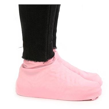 Skoskydd i gummi (rosa)