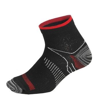 Ankelstrumpor stöd (svart och röd)